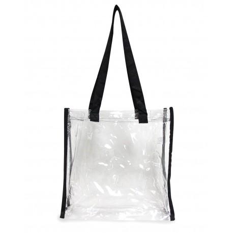 OAD5004 OAD OAD5004 Clear Tote Bag BLACK