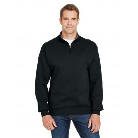 SF95R Fruit of the Loom SF95R Adult 7.2 oz. Sofspun Quarter-Zip Sweatshirt BLACK