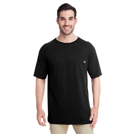SS600 Dickies SS600 Men's 5.5 oz. Temp-IQ Performance T-Shirt BLACK