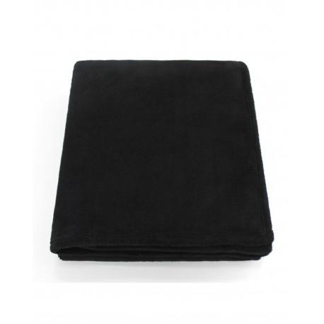 STV5060 Pro Towels STV5060 Soft Touch Velura Throw Kanata Blanket BLACK