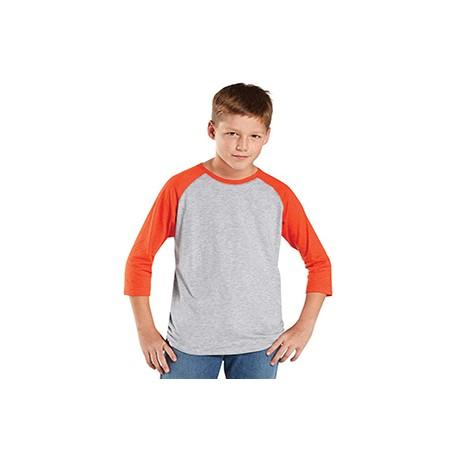 6130 LAT 6130 Youth Baseball Fine Jersey T-Shirt VN HTR/VN ORG