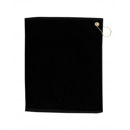 TRU18CG Pro Towels TRU18CG Jewel Collection Soft Touch Golf Towel BLACK