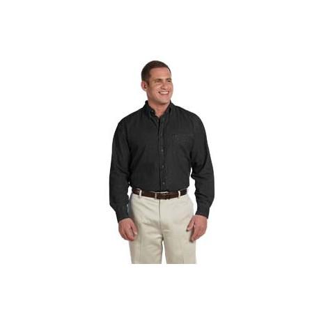 M550T Harriton M550T Men's Tall 6.5 oz. Long-Sleeve Denim Shirt WASHED BLACK