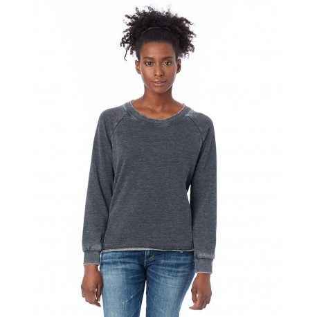 8626F Alternative 8626F Ladies' Lazy Day Pullover WASHED BLACK