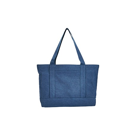 8870 Liberty Bags 8870 Seaside Cotton Canvas 12 oz. Pigment-Dyed Boat Tote WASHED NAVY