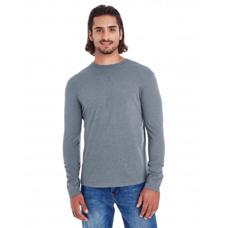 EC1588 Econscious EC1588 Men's Heather Sueded Long-Sleeve Jersey WATER