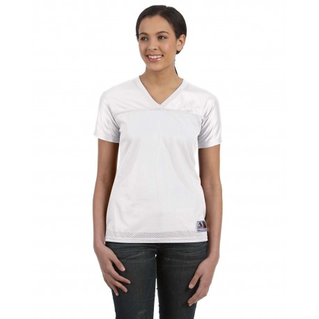 250 Augusta Sportswear 250 Ladies' Junior Fit Replica Football T-Shirt WHITE