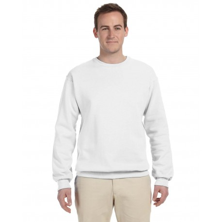 562 Jerzees 562 Adult 8 oz. NuBlend Fleece Crew WHITE