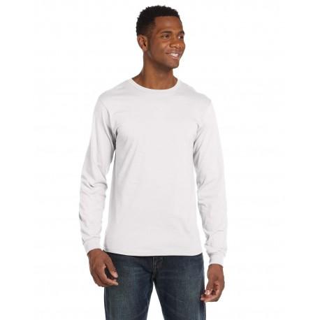 949 Anvil 949 Adult Lightweight Long-Sleeve T-Shirt WHITE