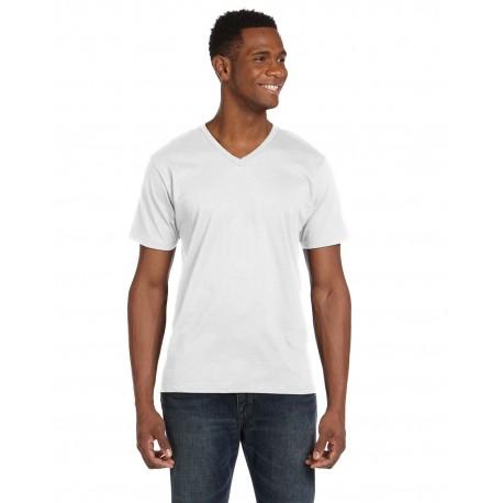 982 Anvil 982 Adult Lightweight V-Neck T-Shirt WHITE