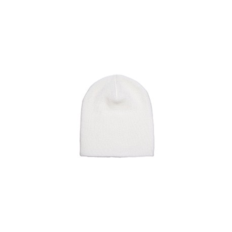 1500 Yupoong 1500 Adult Knit Beanie WHITE