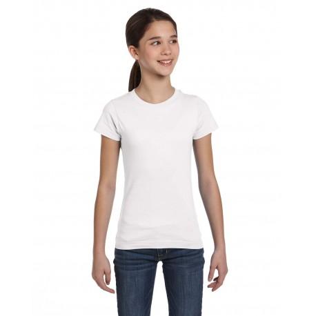 2616 LAT 2616 Girls' Fine Jersey T-Shirt WHITE