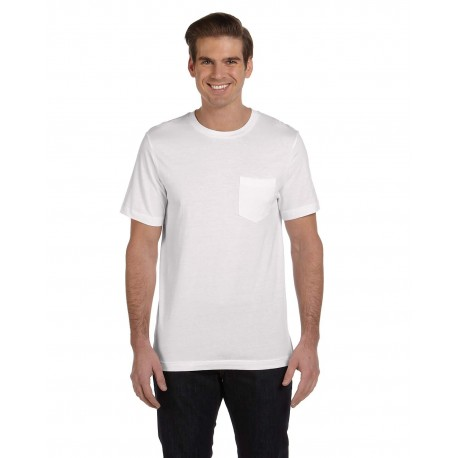 3021 Bella + Canvas 3021 Men's Jersey Short-Sleeve Pocket T-Shirt WHITE