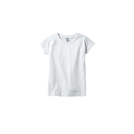 3316 Rabbit Skins 3316 Toddler Girls Fine Jersey T-Shirt WHITE