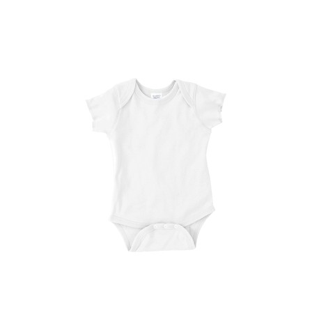 4400 Rabbit Skins 4400 Infant Baby Rib Bodysuit WHITE