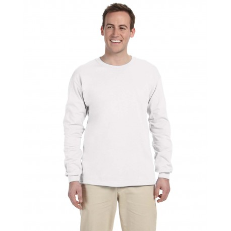 4930 Fruit of the Loom 4930 Adult 5 oz. HD Cotton Long-Sleeve T-Shirt WHITE