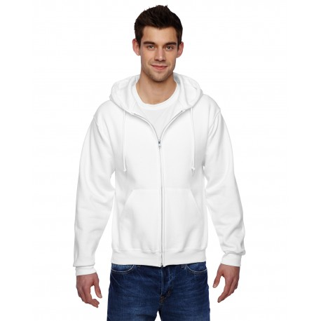 4999 Jerzees 4999 Adult 9.5 oz., Super Sweats NuBlend Fleece Full-Zip Hood WHITE