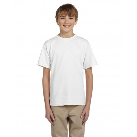 5370 Hanes 5370 Youth 5.2 oz., 50/50 EcoSmart T-Shirt WHITE