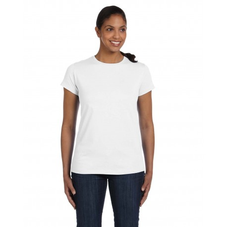 5680 Hanes 5680 Ladies' 6.1 oz. Tagless T-Shirt WHITE