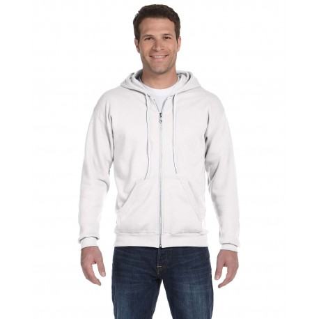 71600 Anvil 71600 Adult Full-Zip Hooded Fleece WHITE