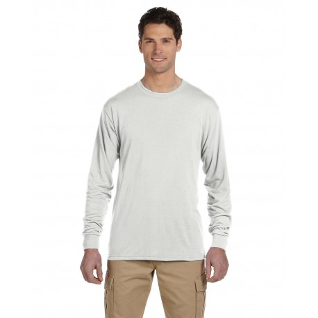 21ML Jerzees 21ML Adult 5.3 oz. DRI-POWER SPORT Long-Sleeve T-Shirt WHITE