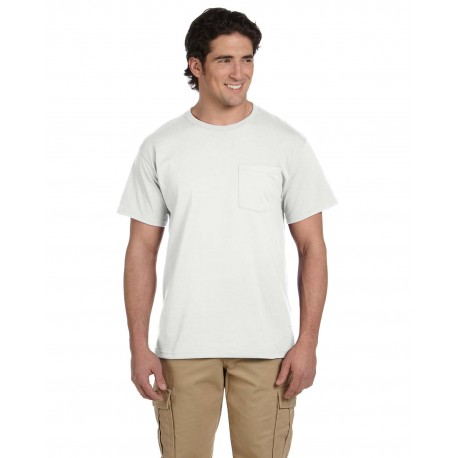 29P Jerzees 29P Adult 5.6 oz. DRI-POWER ACTIVE Pocket T-Shirt WHITE
