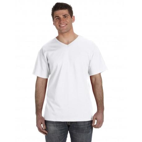 39VR Fruit of the Loom 39VR Adult 5 oz. HD Cotton V-Neck T-Shirt WHITE