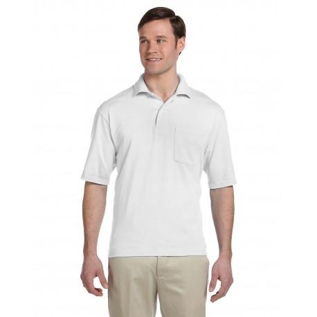 436P Jerzees 436P Adult 5.6 oz. SpotShield Pocket Jersey Polo WHITE