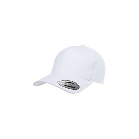 6363V Yupoong 6363V Adult Brushed Cotton Twill Mid-Profile Cap WHITE