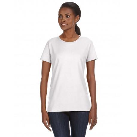 780L Anvil 780L Ladies' Midweight Mid-Scoop T-Shirt WHITE
