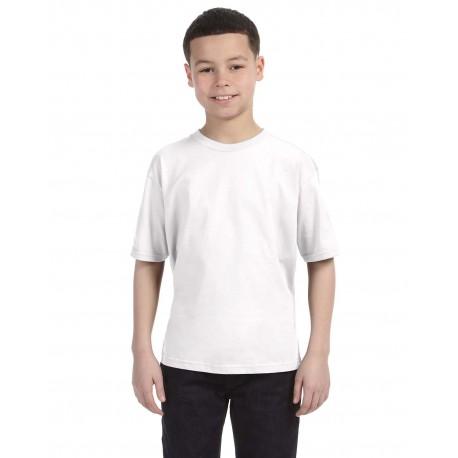 990B Anvil 990B Youth Lightweight T-Shirt WHITE