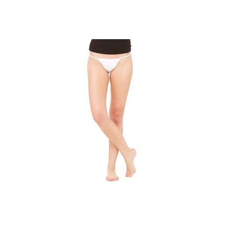 B301 Bella + Canvas B301 Ladies' Cotton/Spandex Thong Bikini WHITE