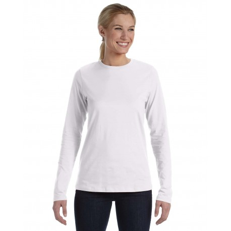B6450 Bella + Canvas B6450 Ladies' Relaxed Jersey Long-Sleeve T-Shirt WHITE