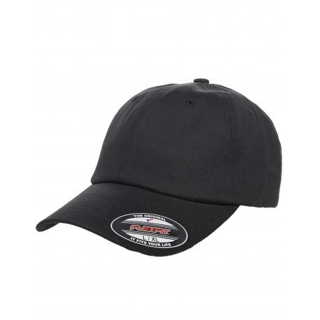 Y6745 Flexfit Y6745 Cotton Twill Dad Cap BLACK
