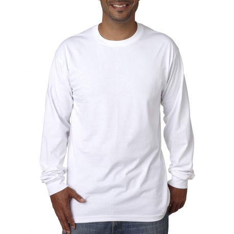 BA5060 Bayside BA5060 Adult Long-Sleeve T-Shirt WHITE