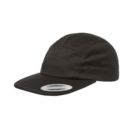Y7005 Yupoong Y7005 Classic Jockey Camper Cap BLACK