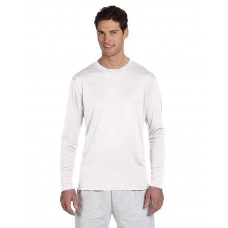 CW26 Champion CW26 Adult 4.1 oz. Double Dry Long-Sleeve Interlock T-Shirt WHITE