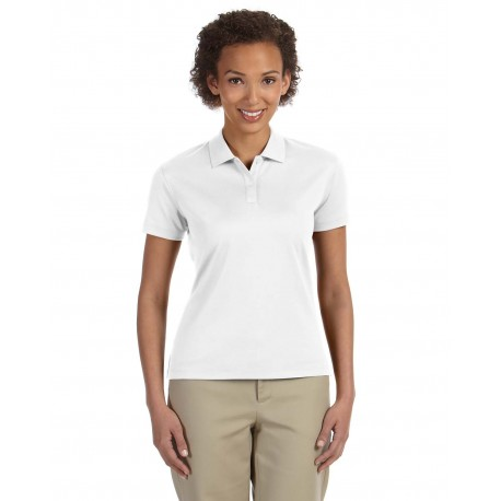 DG200W Devon & Jones DG200W Ladies' Pima-Tech Jet Pique Polo WHITE