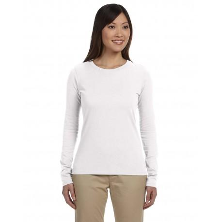 EC3500 Econscious EC3500 Ladies' 4.4 oz., 100% Organic Cotton Classic Long-Sleeve T-Shirt WHITE