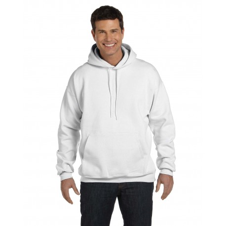 F170 Hanes F170 Adult 9.7 oz. Ultimate Cotton 90/10 Pullover Hood WHITE