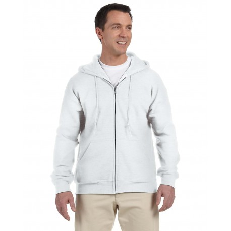 G126 Gildan G126 Adult DryBlend Adult 9 oz., 50/50 Full-Zip Hood WHITE
