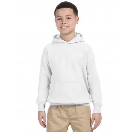 G185B Gildan G185B Youth Heavy Blend 8 oz., 50/50 Hood WHITE