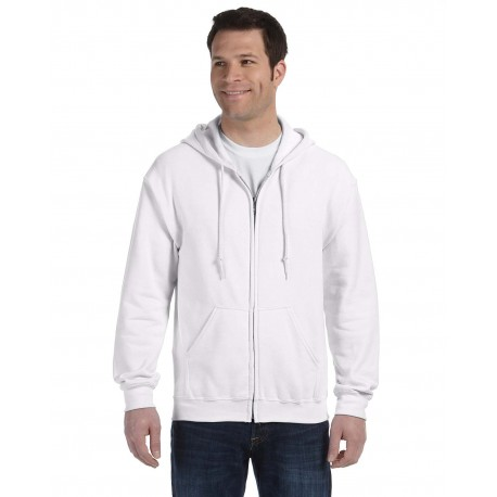 G186 Gildan G186 Adult Heavy Blend Adult 8 oz., 50/50 Full-Zip Hood WHITE