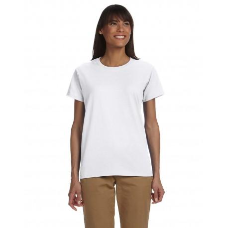 G200L Gildan G200L Ladies' Ultra Cotton 6 oz. T-Shirt WHITE