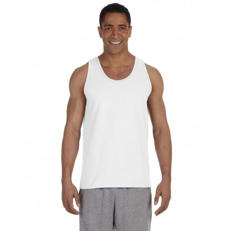 G220 Gildan G220 Adult Ultra Cotton 6 oz. Tank WHITE