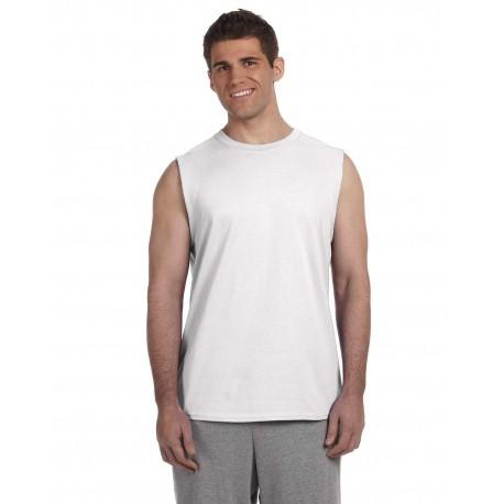 G270 Gildan G270 Adult Ultra Cotton 6 oz. Sleeveless T-Shirt WHITE