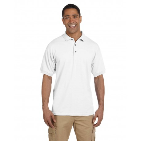 G380 Gildan G380 Adult Ultra Cotton Adult 6.3 oz. Pique Polo WHITE