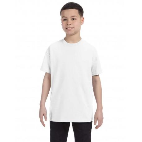 G500B Gildan G500B Youth 5.3 oz. T-Shirt WHITE