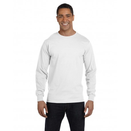 G840 Gildan G840 Adult 5.5 oz., 50/50 Long-Sleeve T-Shirt WHITE
