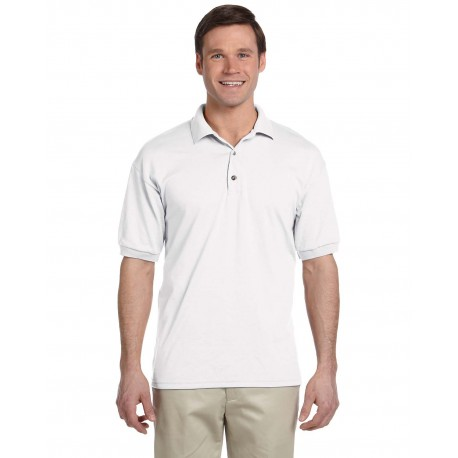 G880 Gildan G880 Adult 6 oz. 50/50 Jersey Polo WHITE